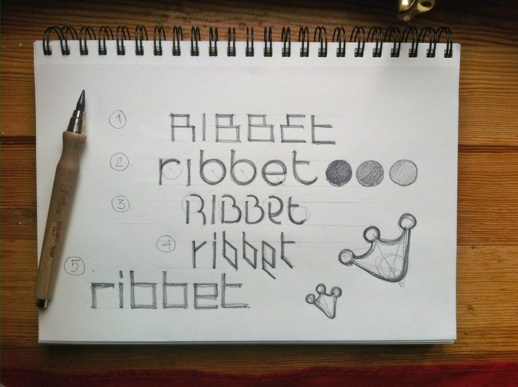 Logo sketches by Tubik Studio