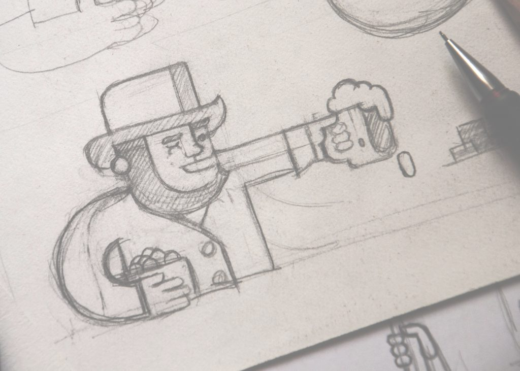 Illustration in sketches