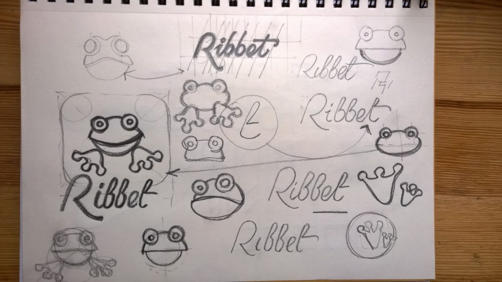 Pencil sketches for logo