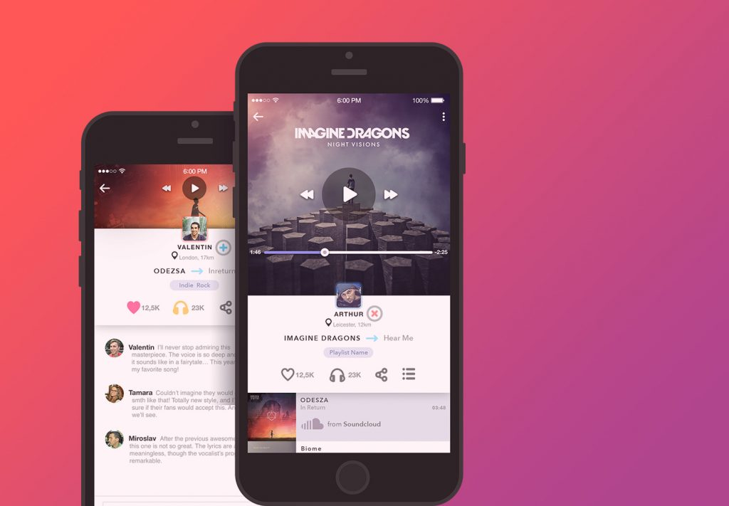 Design Case Study: Echo. User Interface for Music App.