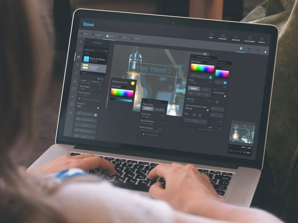 Design Case Study: Ribbet. Logo for Online Editor