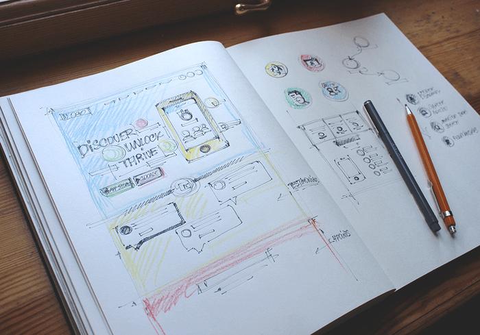 landing page sketching