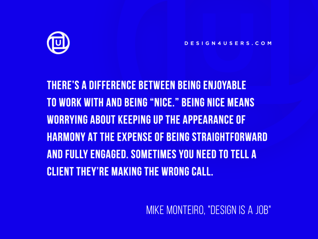 design quote mike monteiro