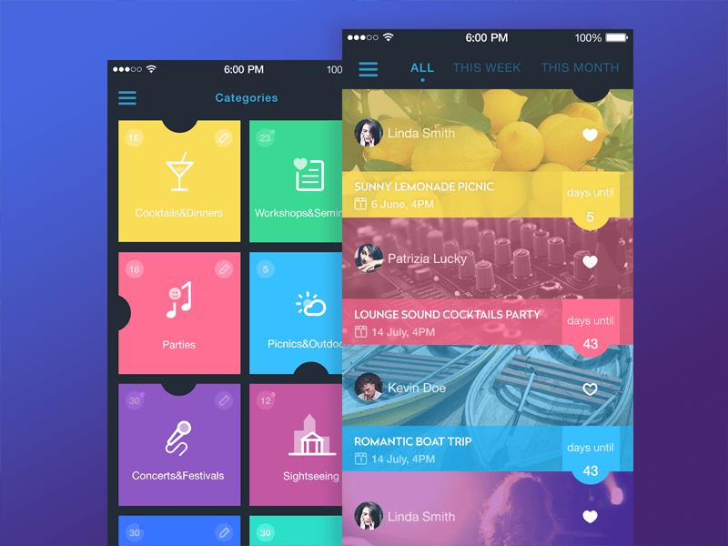 event app UI Tubik Studio