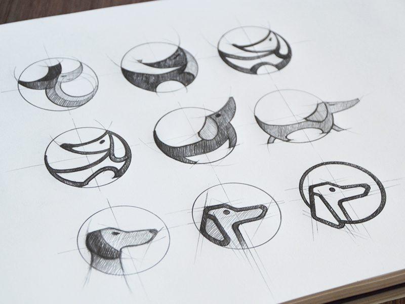 Tubik Studio logo sketch