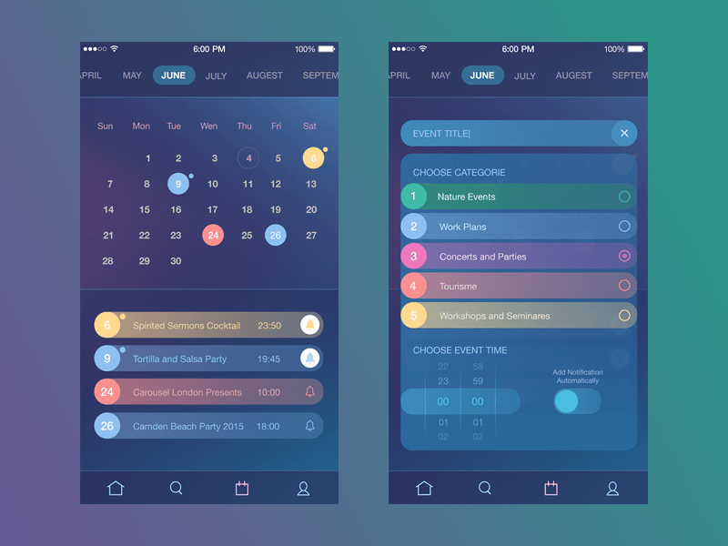 tubik studio app ui