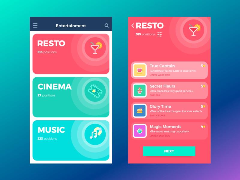 mobile app interface design