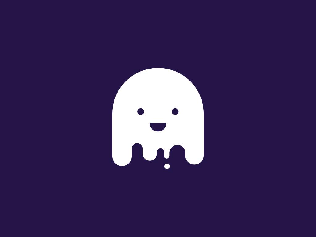 ghost mascot logo design