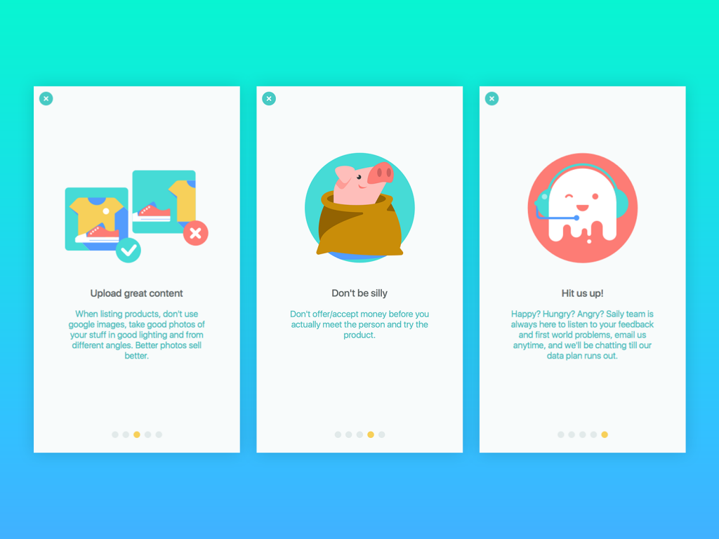 onboarding tutorial app design