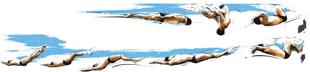 rio 2016 graphic design swimmer