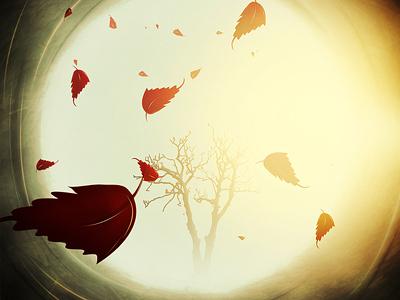 autumn digital illustration