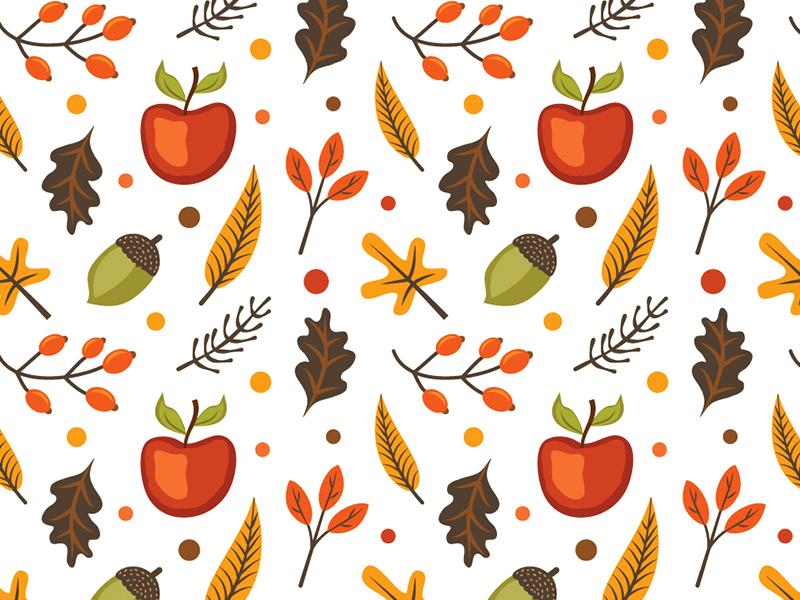autumn pattern graphic