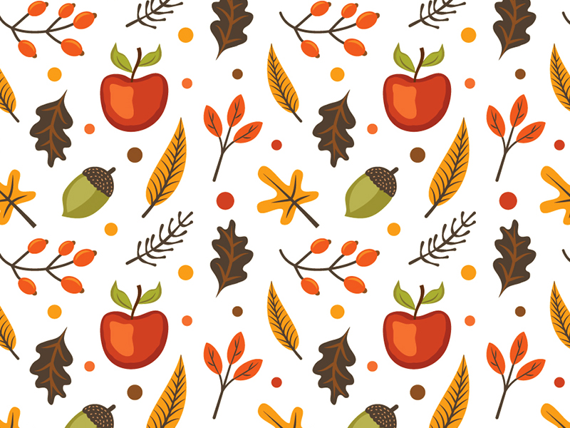 autumn pattern graphic