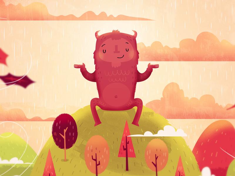 autumn monster design
