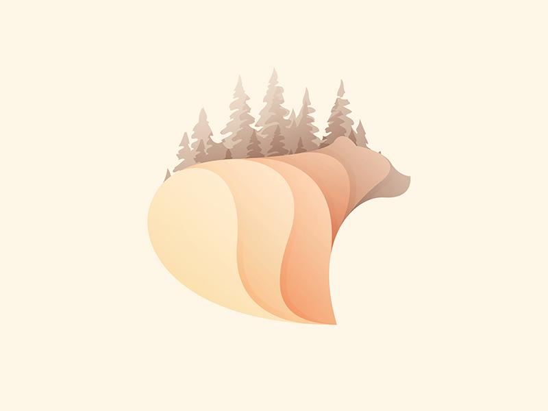 autumn bear illustration