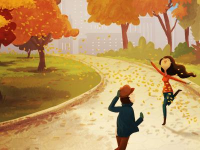 autumn graphic design