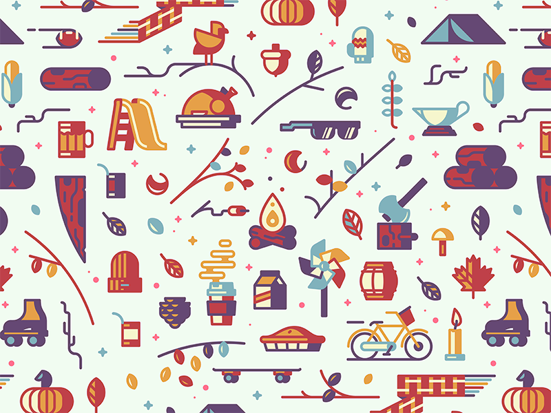 autumn graphic design pattern