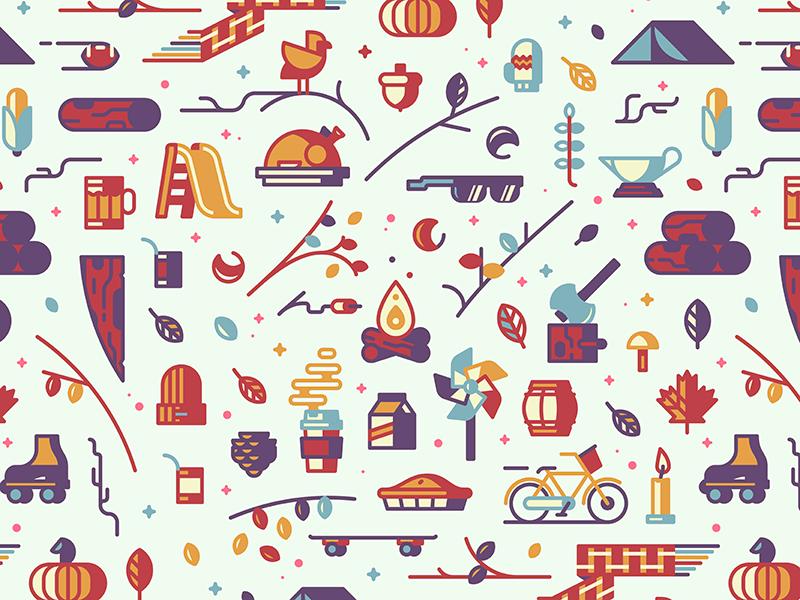autumn graphic design pattern