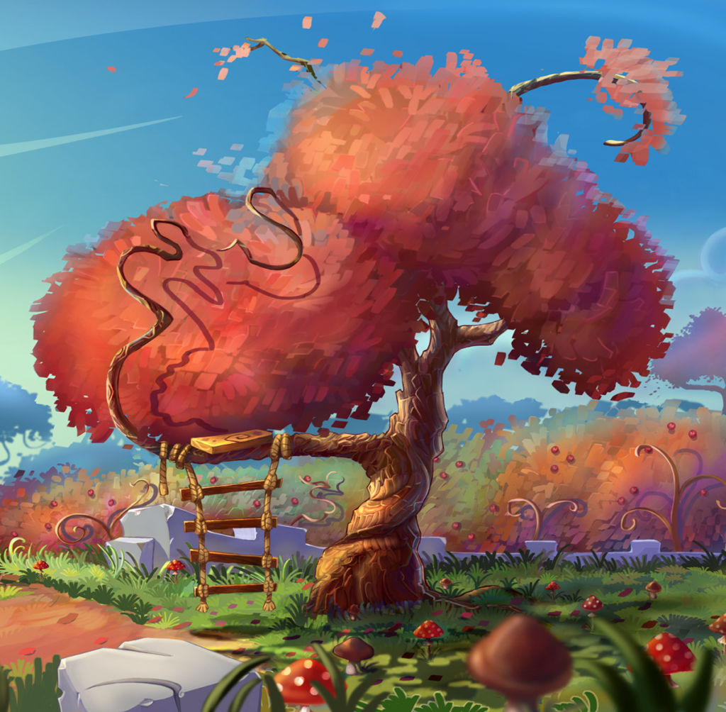 autumn illustration for game