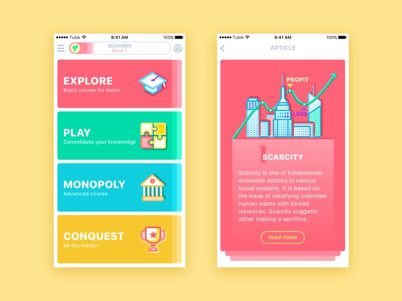moneywise app UI tubik studio