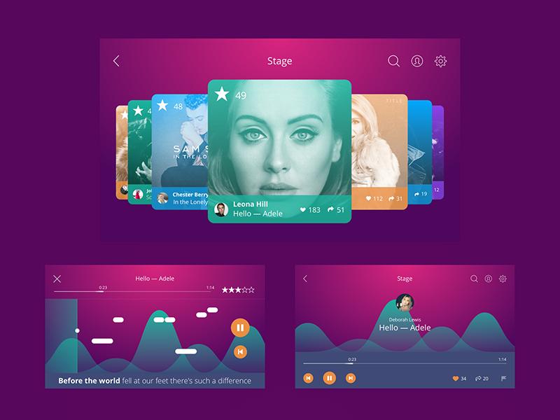 karaoke app UI