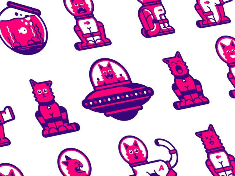 astrocat mascot design