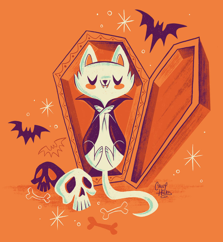 halloween cat illustration