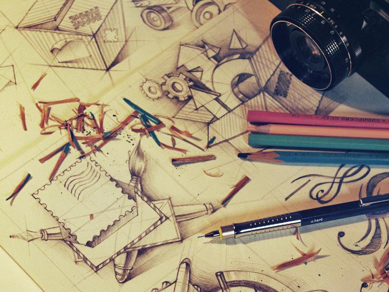 UI illustration sketches