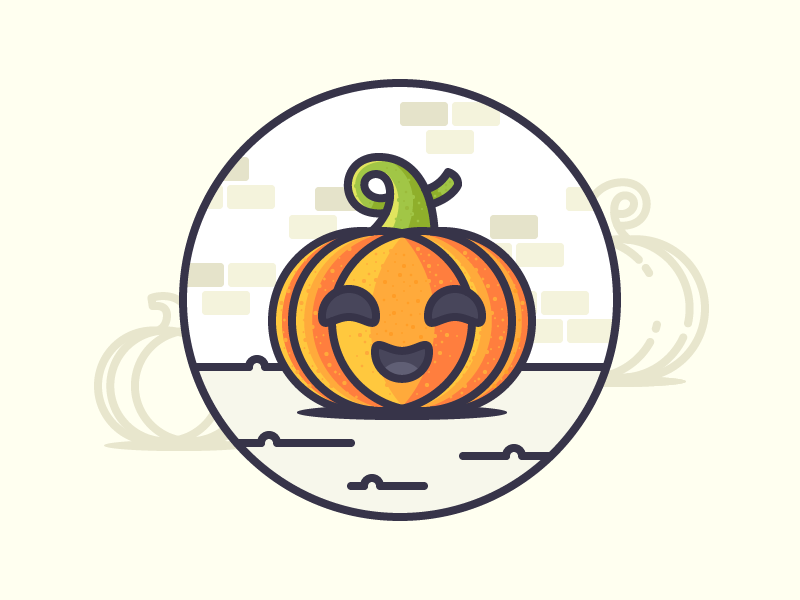 pumpkin icon halloween