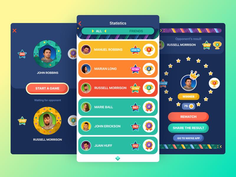 Snake battle UI design
