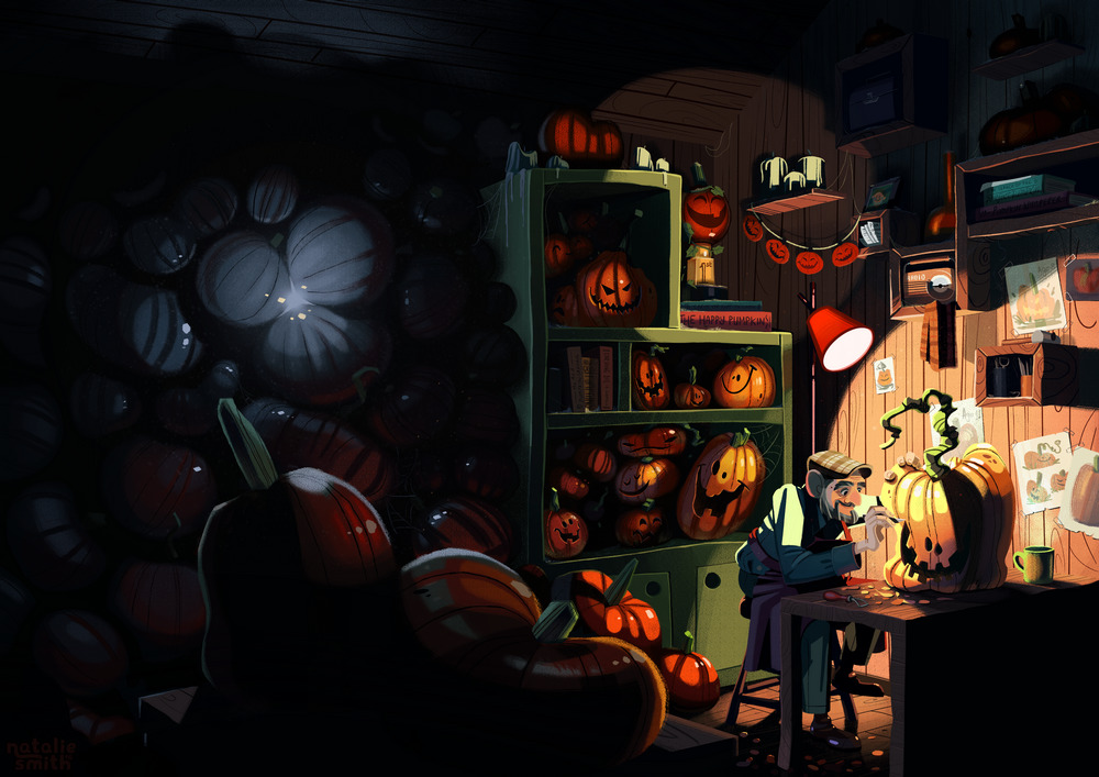 pumpkin carver illustration2