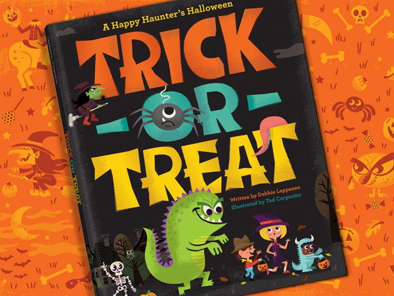 trick or treat book illustration