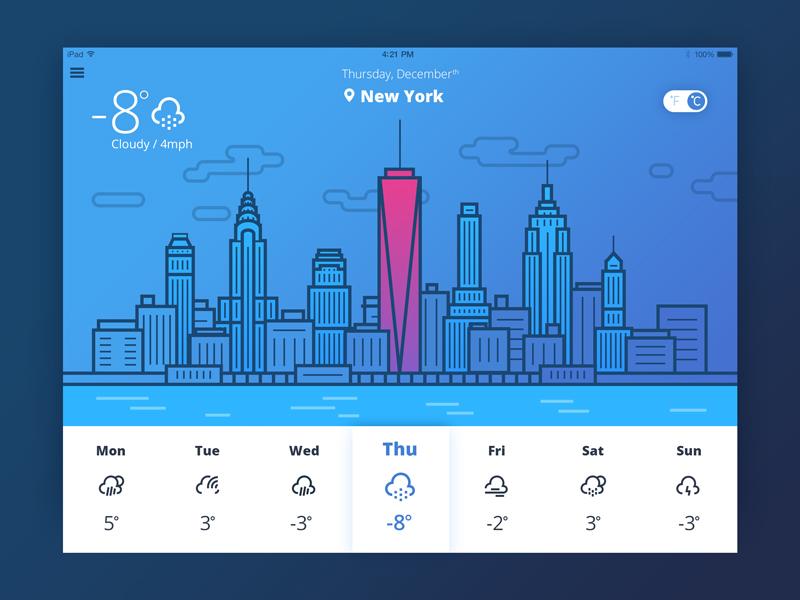 UI illustration weather app