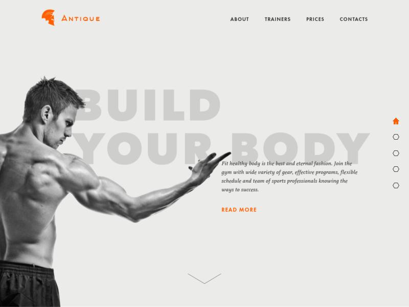 sport landing page design