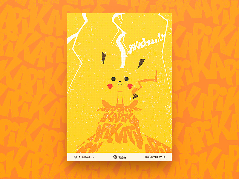 pikachu poster graphic design