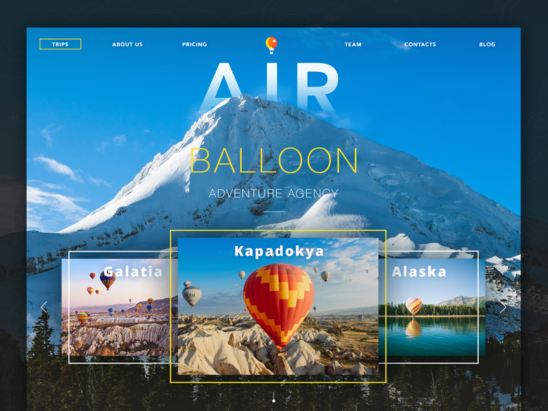 Creative Web Design Concepts of Landing Pages