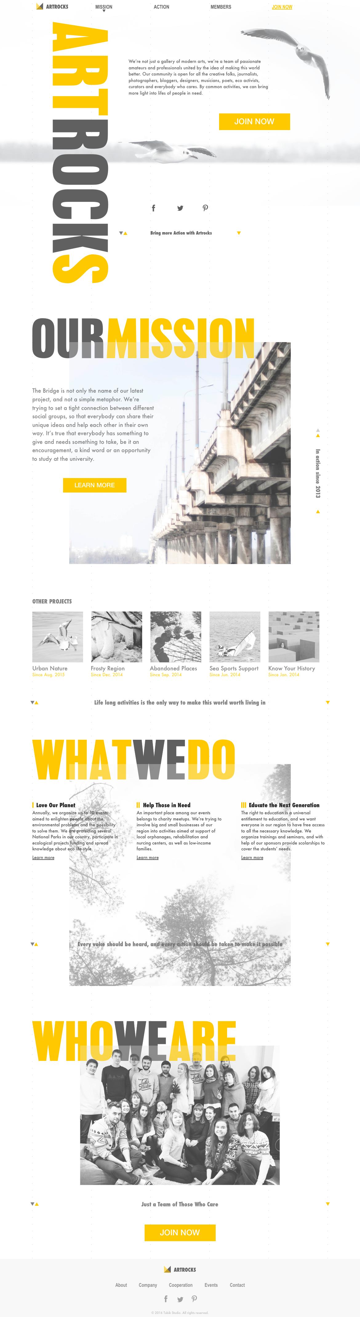 webdesign landing page