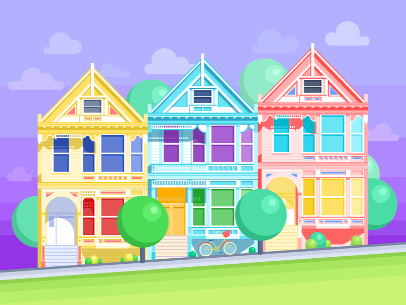 san_francisco_painted_ladies_free_wallpapers_tubik_studio
