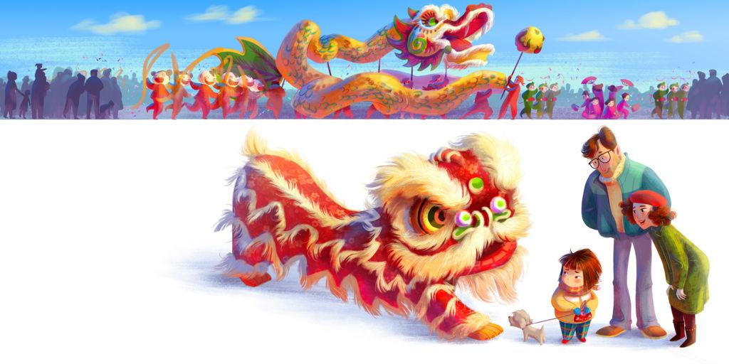 illustration chinese dragon