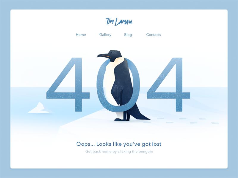 404 page web design