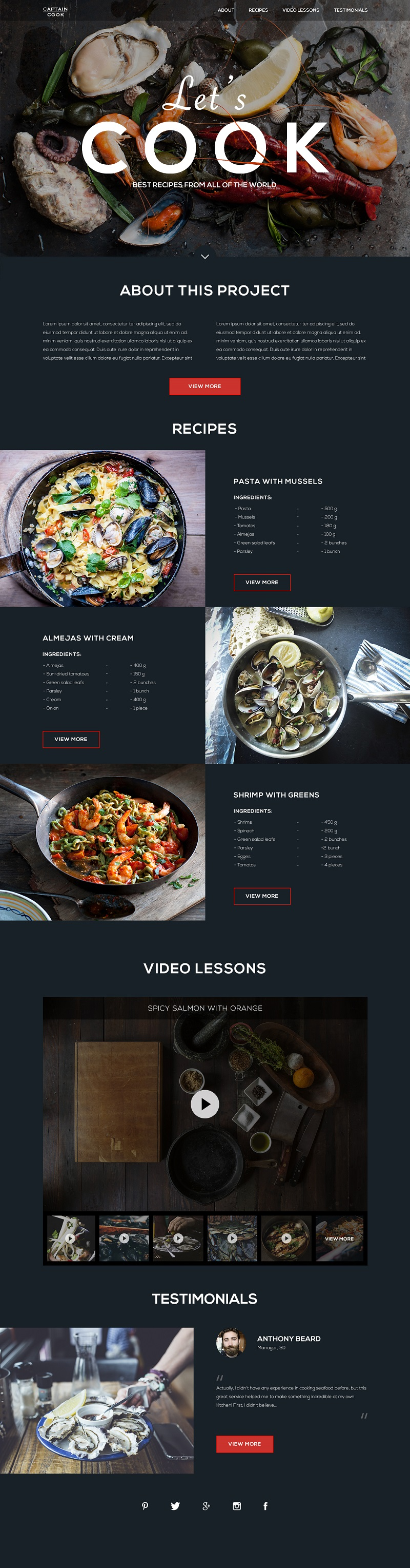 Recipes_cooking_website_design