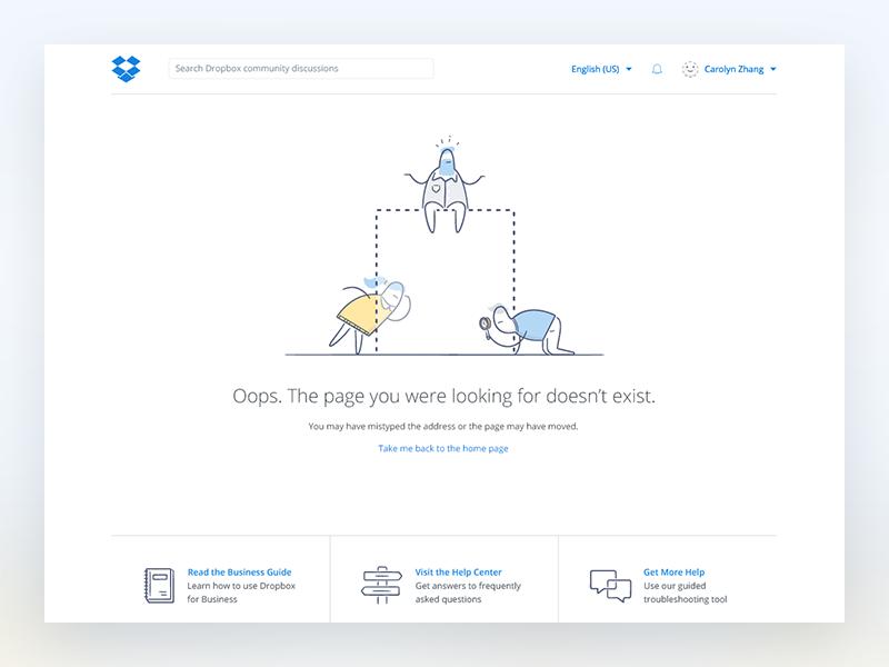 webpage 404 design