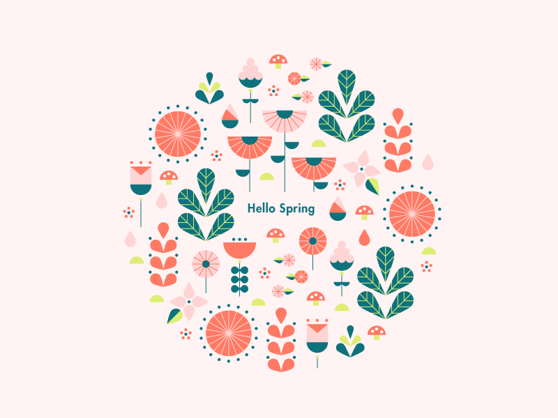 spring inspiration design illustration