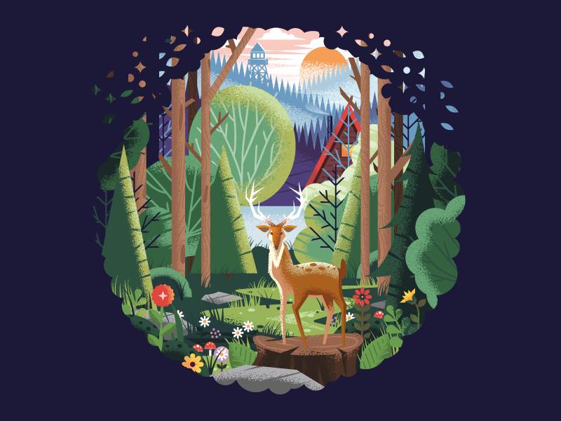 wild nature illustration