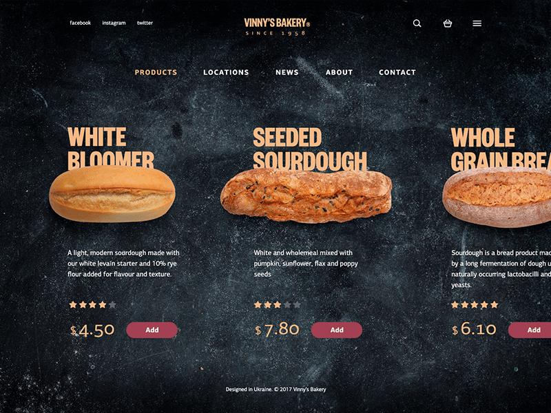 Bakery-website-catalog-design-ui