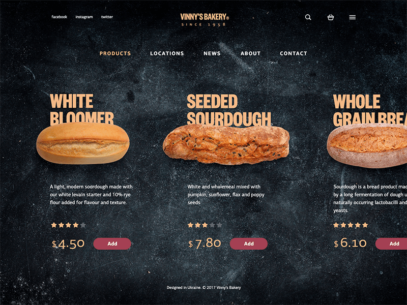 Bakery-website-catalog-design-ui