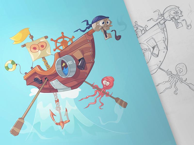 pirate graphic design 8