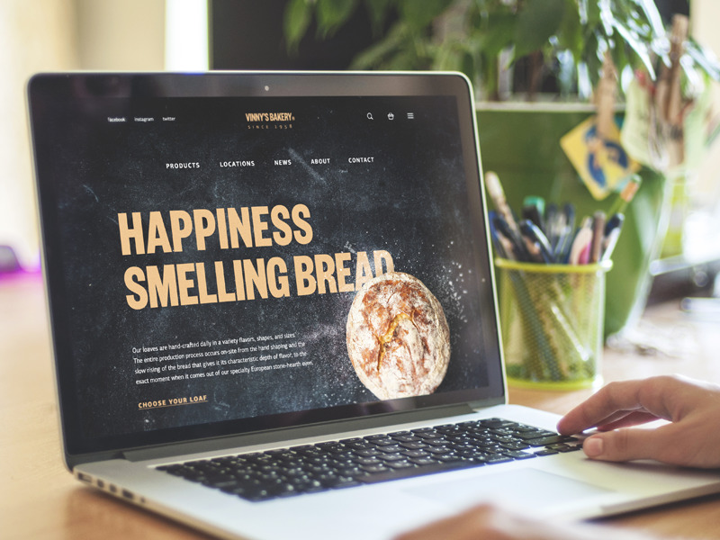 Design Case Study: E-Commerce. UI for Bakery Website.