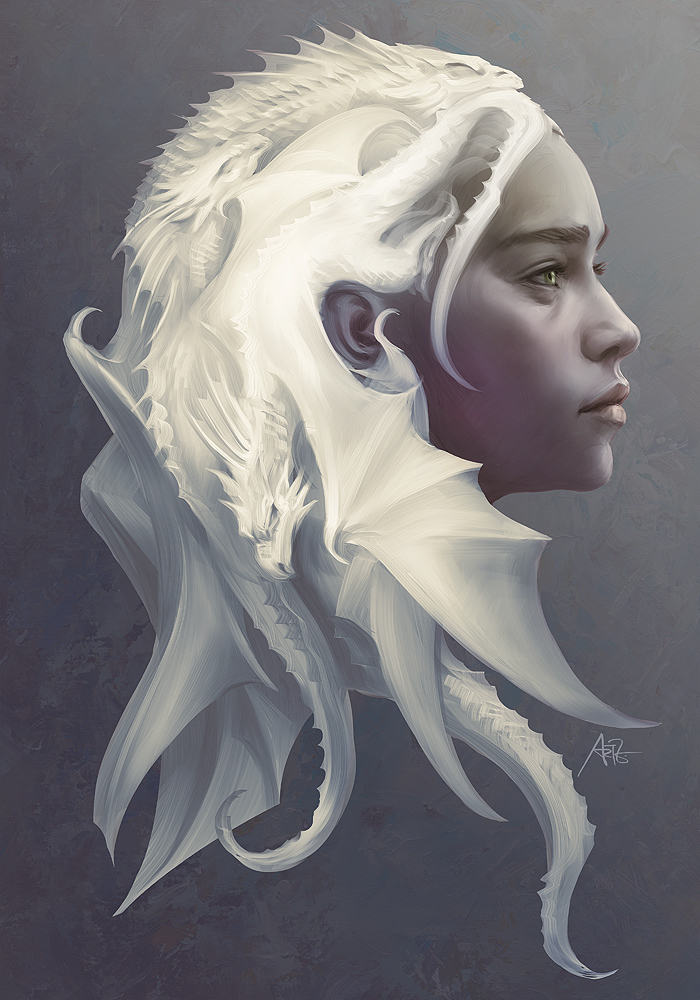 game of thrones digital art character