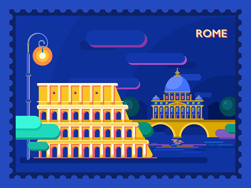 city illustration graphic design